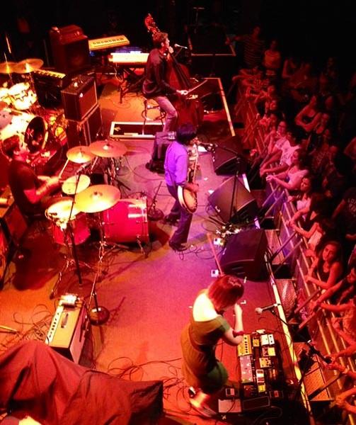 Popular local act Goldrush, featuring Prabir Mehta, performs live.