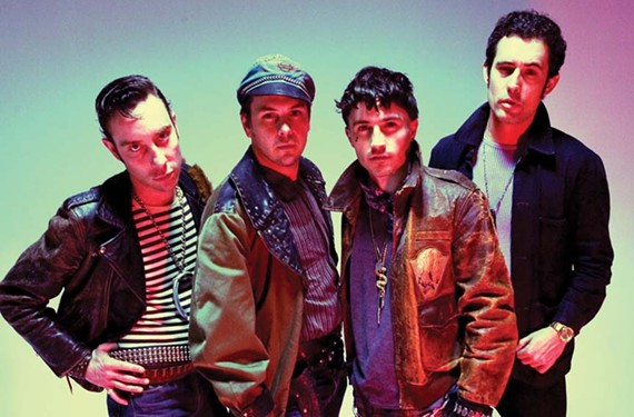 Punk-garage rockers the Black Lips are trying to get past their reputation for excessive onstage bodily fluids and just make people dance: bassist Jared Swilley, drummer Joe Bradley, guitarist Cole Alexander and guitarist Ian StPe.