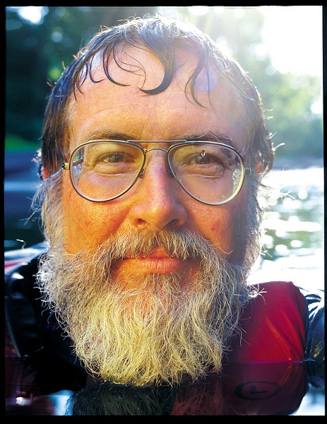 Ralph White at Reedy Creek in a photo from Style Weekly, June 1999.