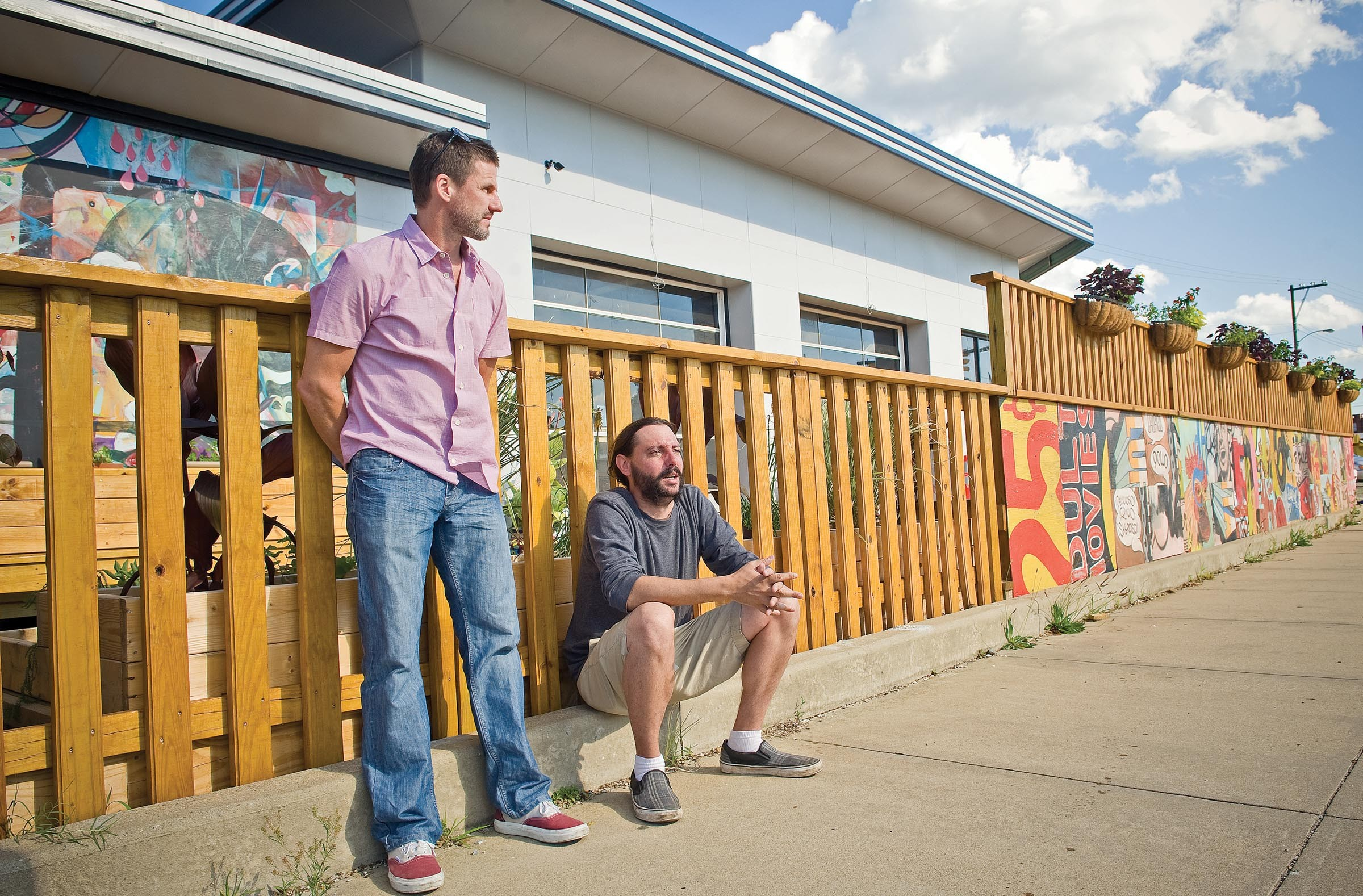 Randy O'Dell and Patrick Stamper helped add color and life to a blighted strip along the Boulevard by opening En Su Boca with developer Charlie Diradour. - ASH DANIEL