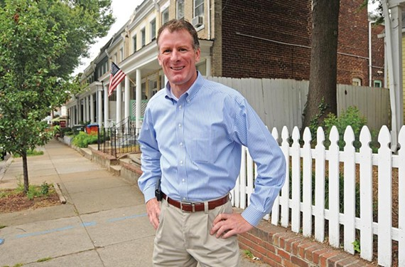 Real-estate agent Michael Ryan, 46, says one reason that he's running for mayor is to get more retail into the city. - SCOTT ELMQUIST