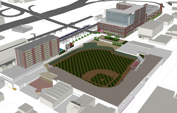 Released Thursday, the latest renderings of Richmond Mayor Dwight Jones' proposed ballpark development in Shockoe Bottom show the finalized site plans.