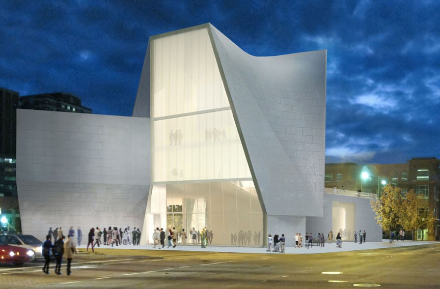 Rendering of VCU's Institute for Contemporary Art proposed for the intersection of Broad and Belvidere streets and its architect, Steven Holl (below). - STEVEN HOLL ARCHITECTS
