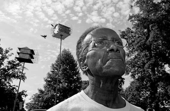 Retired high-school English teacher Adolph White might be Richmond's most loyal purple-martin fan.