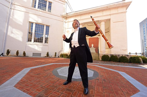 Richard Spece and his Mannheim Rocket Orchestra, which uses period instruments from the 1800s, will play at Monumental Church performing Beethoven's First and Mozart's 40th symphonies.