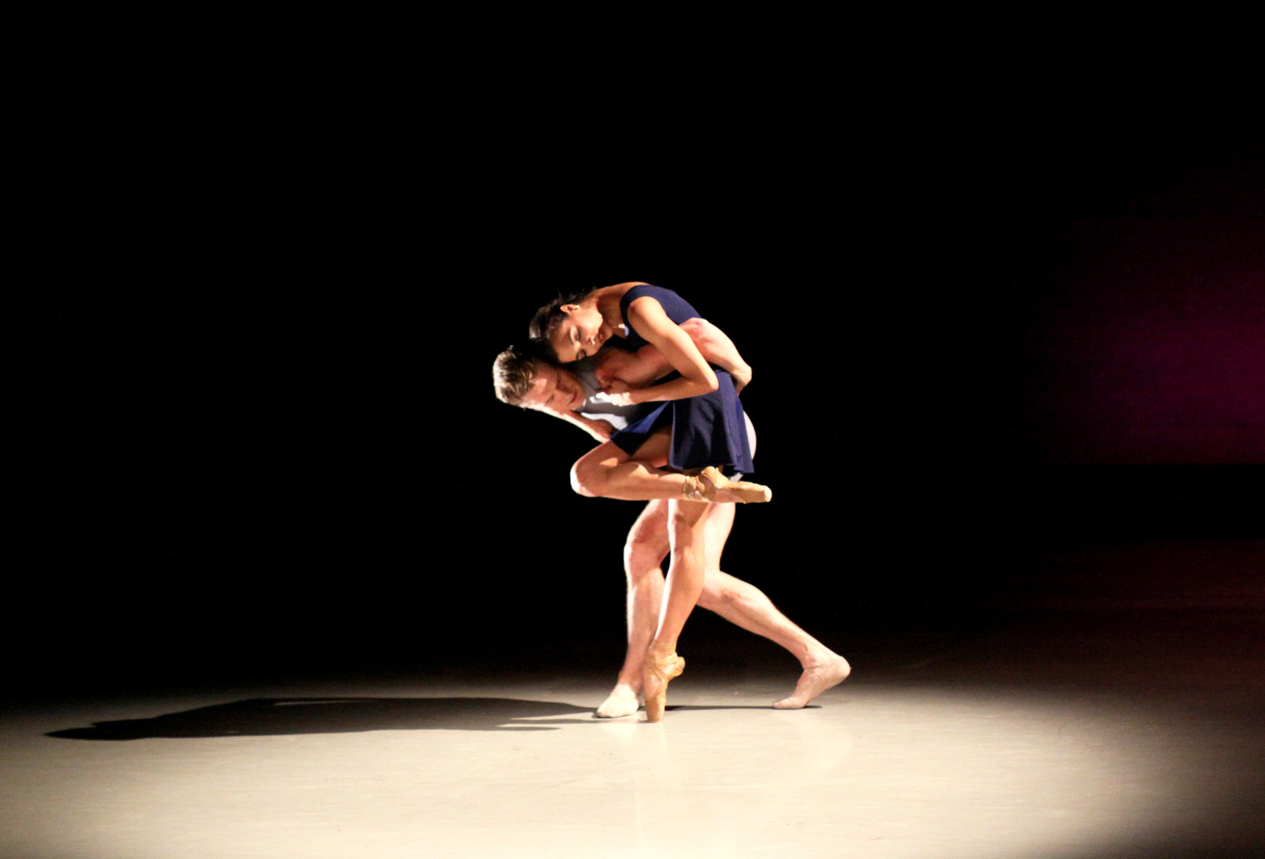 """Richmond Ballet dancers Maggie Small and Phillip Skaggs in Nicole Haskins' """"From My Life."""" - SARAH FERGUSON"""