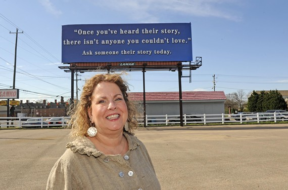 Richmond resident Maryann Cox did 58 nice things for others on her 58th birthday in March. The first was to put her favorite inspirational quote on this West Broad billboard.