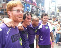 Richmond Street Soccer players KC Fisher, Will Williams, Andre Winston and Shawn Jensen competed in the national Street Soccer USA tournament in New York, July 20-22.