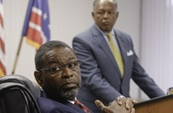 Richmond's former chief administrative officer, Byron Marshall, and Mayor Dwight Jones. - SCOTT ELMQUIST