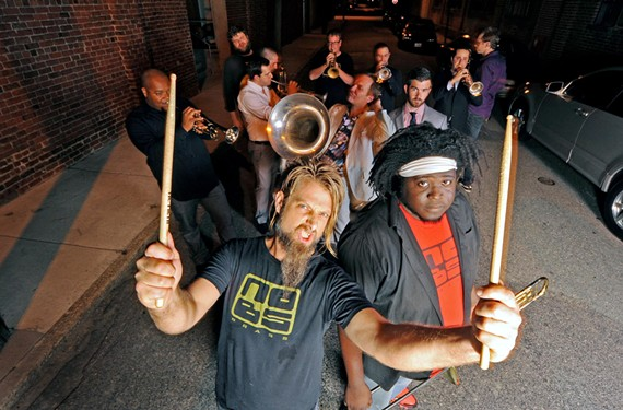 Richmond's own No BS Brass, featuring Lance Koehler and Reggie Pace, will be teaming with the Richmond Symphony and the Dukes of Dixieland for a wide-ranging concert at the Carpenter Theatre on Jan. 31.