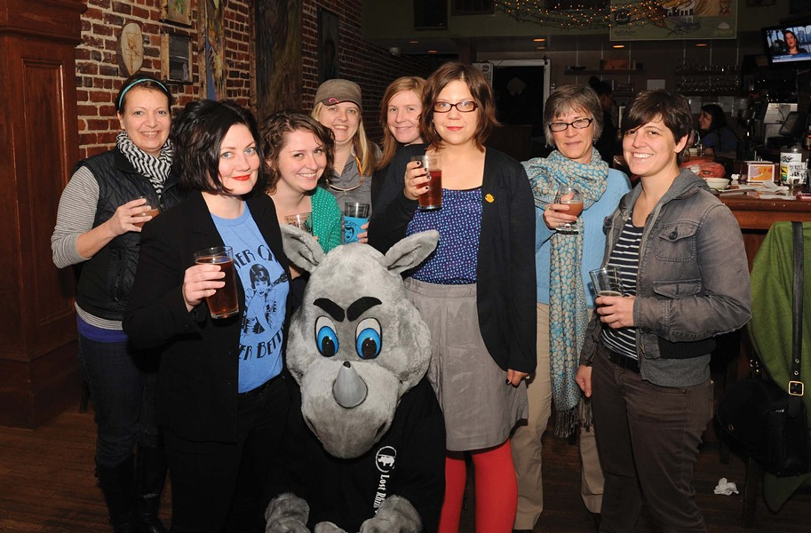 River City Beer Betties, which includes Style contributor Hilary Langford, second from left. - SCOTT ELMQUIST
