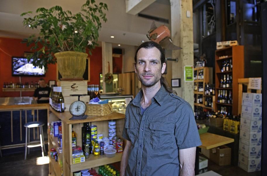 Ron Stradone, occasionally on duty at Camden's Dogtown Market. - SCOTT ELMQUIST