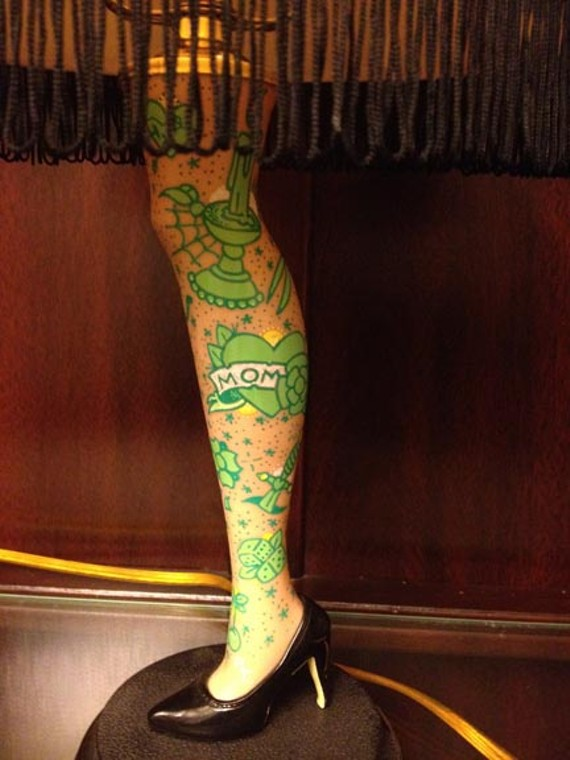 Ross Trimmer's custom tattooed leg lamp - ROSS TRIMMER