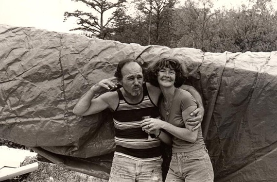 Rowdy Richmond poet Lester Blackiston, pictured here with his long suffering third wife Lilly, owned a building in Shockoe Bottom that was opened recently to reveal a trove of '50s and '60s art memorabilia.