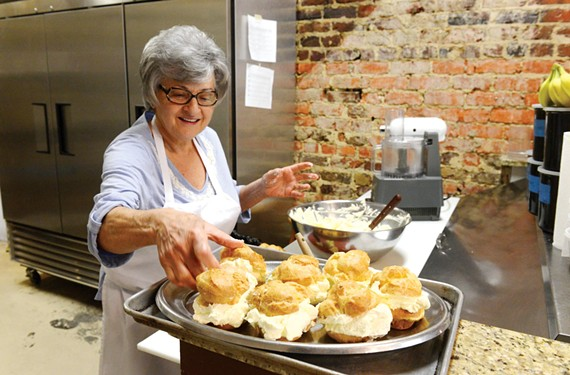 Rusty Fallen has no plans to stop making her signature cream puffs.