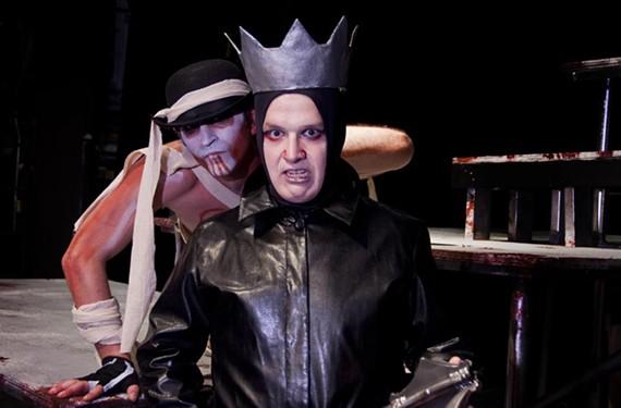 Ryan Bechard, as the sinister Figure of Human Potential, stalks King John (Thomas Cunningham). - ERIC DOBBS
