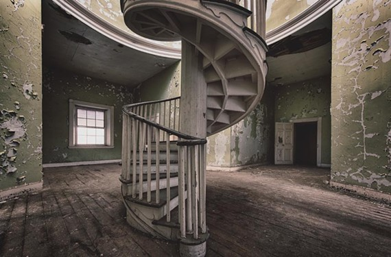 """Sacred Stairs."" Old campus of Western State Hospital, Staunton. - JAMIE BETTS PHOTO"