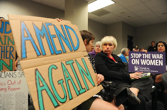 Shelley Abrams led the resistance to new building code regulations for abortion clinics, but the Virginia Board of Health rejected a critical grandfather clause exempting existing clinics at its Sept. 14 meeting. - SCOTT ELMQUIST
