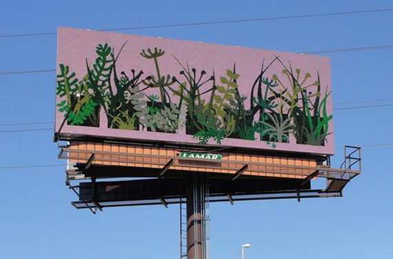 Sign, sign, everywhere a sign: The nationally-focused Billboard Art Project gives new meaning to the term traveling exhibit. Artist Claire Accardo's work can currently be seen on Interstate 195 in Richmond near Westwood Avenue.