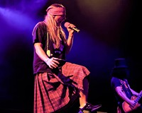 Singer Chad Atkins has the whole Axl Rose thing down in the tribute band, Appetite for Destruction. Come hear all the famous Guns N' Roses tunes without the famous flaking at the National.