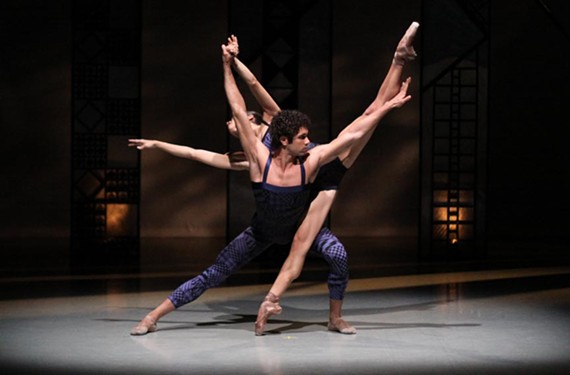 "Slaves of desire: Richmond Ballet's Maggie Small and Fernando Sabino go beyond the motions in ""Luminitza."" - SARAH FERGUSON"