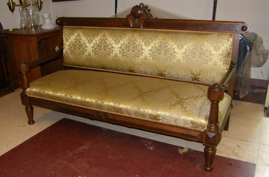 Sofa, so Hollywood: This one, which had a sitting role in Spielberg's Abraham Lincoln movie, is for sale at Gates Antiques.