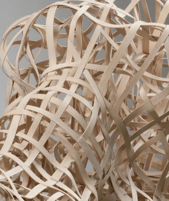 """Stephen Talasnik created two sculptures for the Reynolds Gallery, including this detail from """"Boulder Field 1."""""""