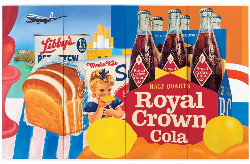 """""""Still Life #35"""" (1963), oil and collage on canvas by artist Tom Wesselmann, who always hated being grouped in with the pop art movement. Few know that he was also a country music songwriter, his song """"I Love Doing Texas With You"""" was featured in the film """"Brokeback Mountain."""""""