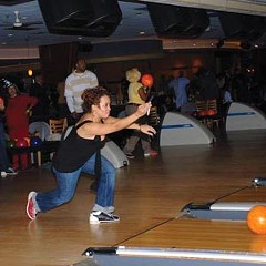 Strike anywhere: A participant at last year's Soul Bowl works on her split. The fourth annual installment of the charity event will happen this week.