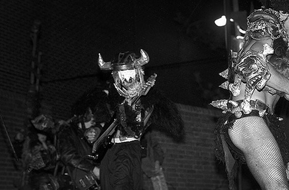 Style Weekly calendar editor Chris Bopst performs as the original Gwar bassist Balsac back in the 1980s, behind the ass cheek of his friend, Dave Brockie.