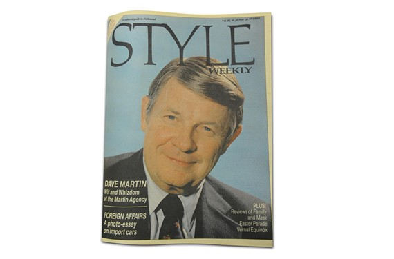 Style Weekly featured a cover story about David Martin in March 1985.