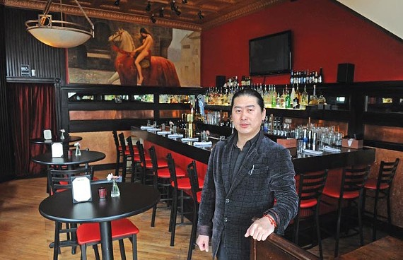 Sunny Zhao, shown on the first floor of Fanhouse earlier this year, is taking out the bar he added there.