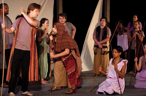 "Sycamore Rouge's output has been as varied as musicals and a recent adaptation of Homer's ""The Odyssey, pictured. The theater company is on a different quest at press time — to save itself from bankrupcy."