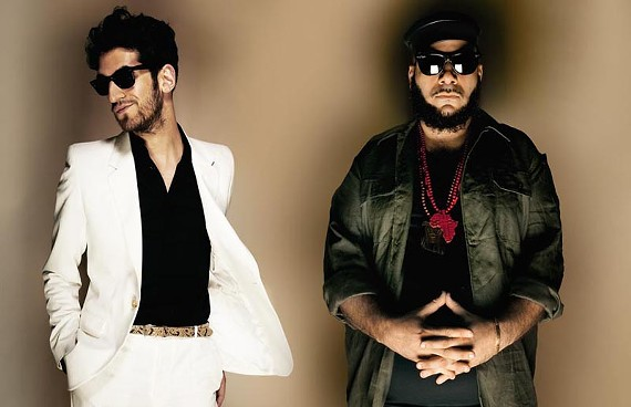 Synths and sensibility: Chromeo's Dave 1 (left) and P-Thugg are in love with the '80's.