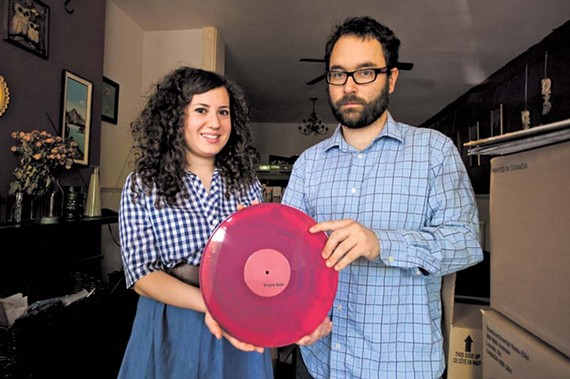 "Talia Miller and Curtis Grimstead operate the Rorschach label, one of 20 local music imprints still releasing vinyl LPs and 45s. ""You sell a lot and people are into it, then they're on to the next thing,"" Miller says. - SCOTT ELMQUIST"