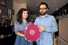 "Talia Miller and Curtis Grimstead operate the Rorschach label, one of 20 local music imprints still releasing vinyl LPs and 45s. ""You sell a lot and people are into it, then they're on to the next thing,"" Miller says."