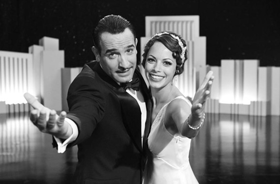 """Talk is cheap: Jean Dujardin is George and Bérénice Bejo is Peppy in """"The Artist,"""" an audience-friendly homage to the silent movie era. - THE WEINSTEIN COMPANY"""