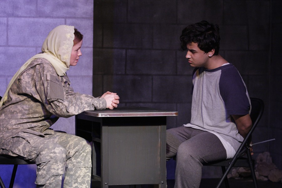 The anthropologist, played by McLean Jesse, tries to understand a young Iraqi suicide bomber, played by Richmonder and Iraqi native, Saleh Ismael.