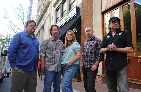 The Atkinsons are, from left, Jeff Williams, Dickie Wood, Jamie Wood, Ricky Breland and Kris Krull. - SCOTT ELMQUIST