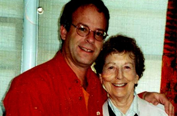The author and his mother in happier times.