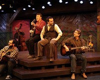 """The cast of Virginia Repertory Theater's """"Cotton Patch Gospel"""" works with great songs written by folk rock musician Harry Chapin just before his death in 1981 from a heart attack while driving on the Long Island Expressway."""