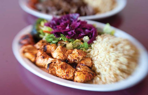 The chicken kebabs are one of the popular entrees at the Anatolia Grill, a little slice of Turkey in Chester. - SCOTT ELMQUIST