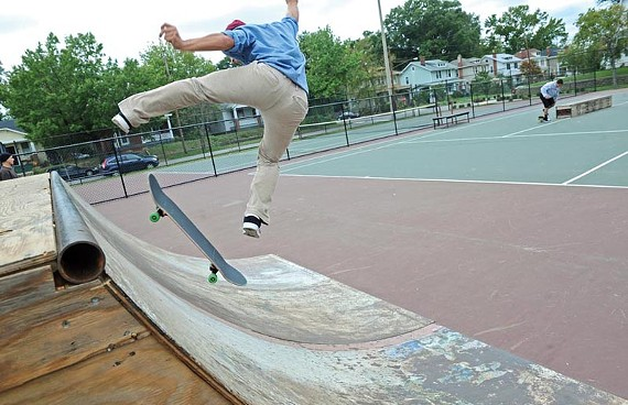 The city has shortened the ramps at Carter Jones Park in South Richmond, which has some skateboarders concerned about future projects. - SCOTT ELMQUIST