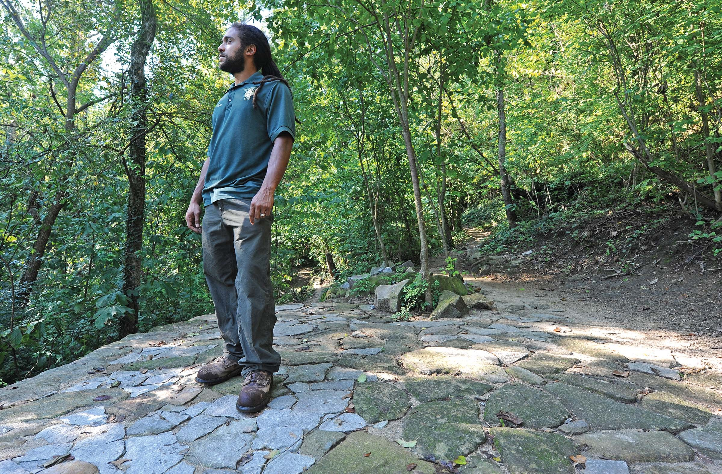 The city hired Nathan Burrell to manage the James River Park System. - SCOTT ELMQUIST