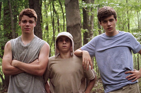 """The coming-of-age summer sleeper hit, """"The Kings of Summer,"""" stars Gabriel Basso, Moises Arias and Nick Robinson as kids living in a homemade fort off the suburban grid. - CBS FILMS"""