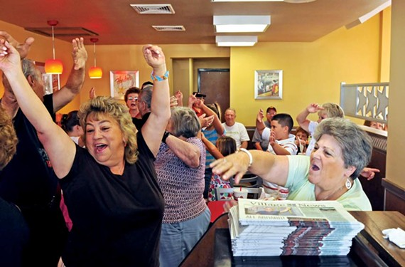 The crowd's a lively one. On a recent Wednesday, an ambulance showed up at the Hardee's because one man accidentally activated his medical alert device while dancing. - SCOTT ELMQUIST