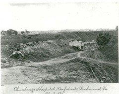 """The enormous Chimborazo Hospital complex (below) suffused the city with """"tainted breezes,"""" one reporter said; its 9 percent mortality rate, however, was lower than many Union hospitals. - RICHMOND NATIONAL BATTLEFIELD PARK"""