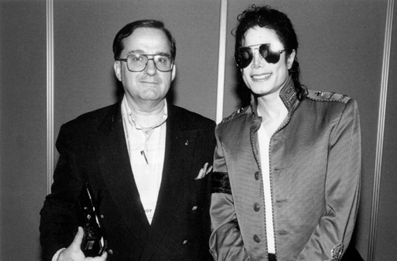The estate of Sony Music executive Andrew Piretti, here with Michael Jackson, will go on sale this week at his Richmond home.
