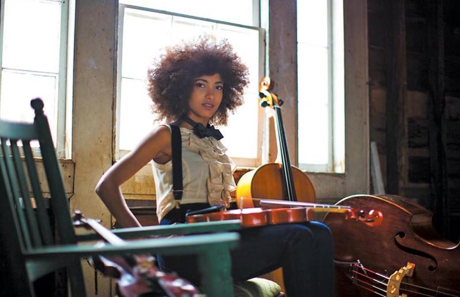 The face of bass: Esperanza Spaulding. - SANDRIN LEE
