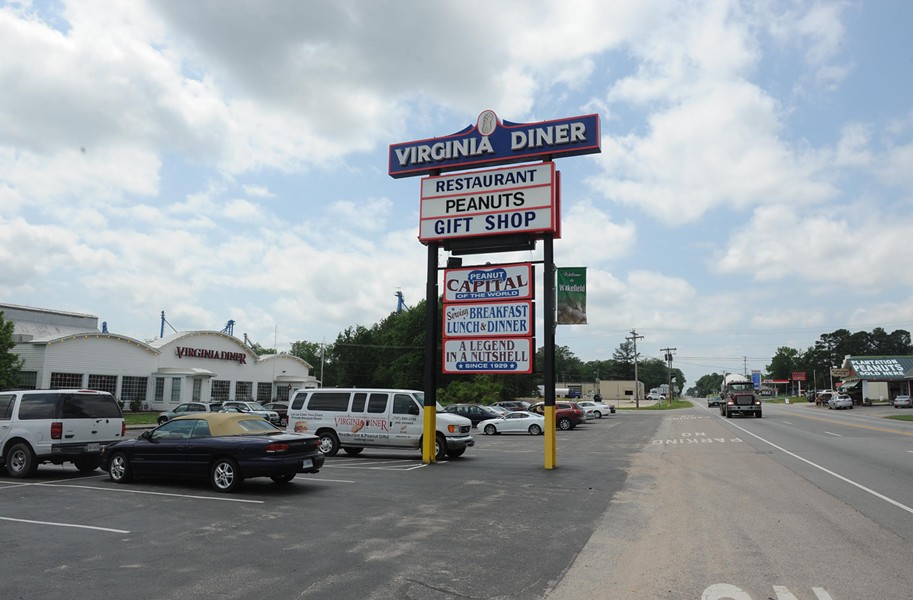 The famed Virginia Diner in Wakefield could see business decrease because of a new toll road designed to take traffic off of U.S. Route 460. But the potential lost business isn't factored into the state's rosy economic impact forecast. - SCOTT ELMQUIST